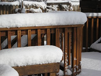 Snow on Railing