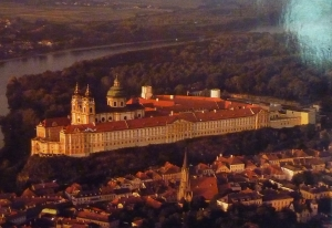 Melk Abbey aerial view
