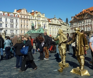 Living Statues at Old Town Square, Prague