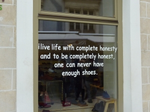 Bratislava shoe store