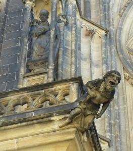 Gargoyle on St Vitus Cathedral, Prague