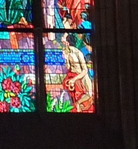 Pretzel detail of Pentecost window