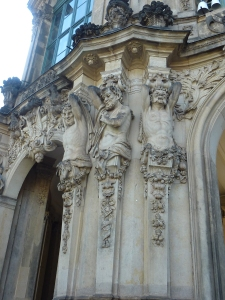 Wall detail at Zwinger